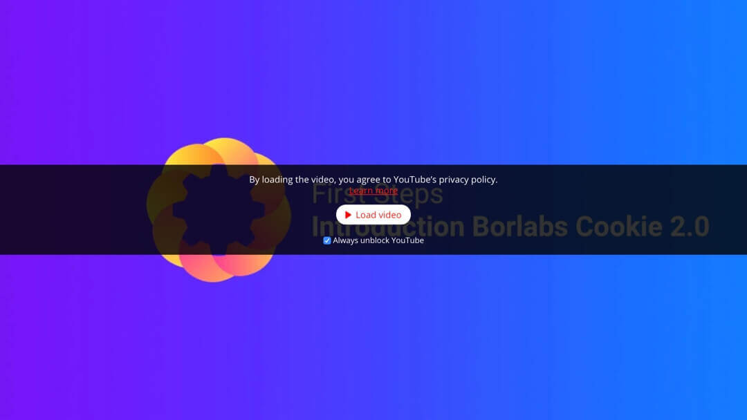Introduction Borlabs Cookie Video Sample